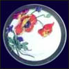 Syracuse China/O.P.Co. Service Plates - Hand Painted Poppies, Bird Series & Nature Studies