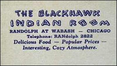 Blackhawk Restaurant Indian Room-ad