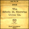 Edwin M. Knowles China Co. Catalog