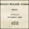 Walker/Bailey-Walker China Price List