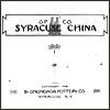Syracuse China/O.P.Co. Catalog 1914