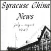 Syracuse China News July-August 1947 Airline China