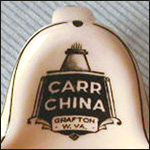 Carr China Advertising Ashtray