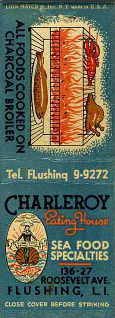 Charleroy Eating House-matchbook-top