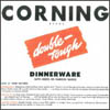 Corning Double-Tough Dinnerware Sales Sheets