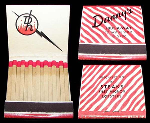 Danny's Hideaway-matchbook