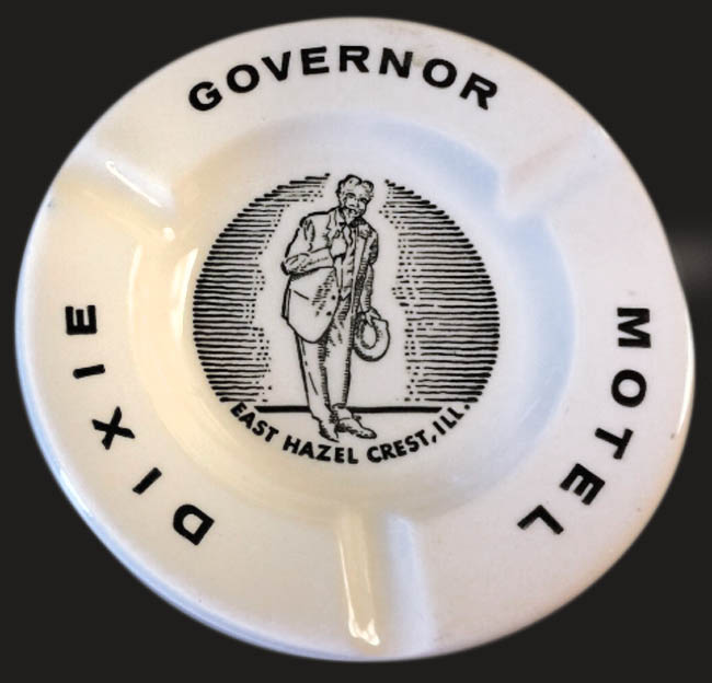 Dixie Governor Motel-unmarked-ashtray (to show detail)