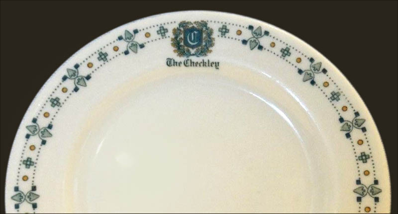 Checkley Hotel-plate