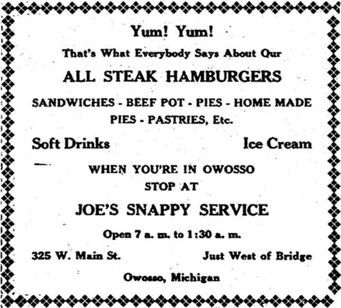 Joe's Snappy Service-ad