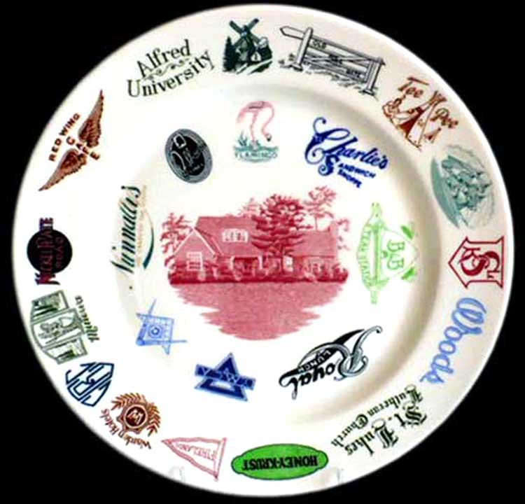 Walker China Logo Sample Plate