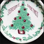 Walker Christmas Advertising Plate