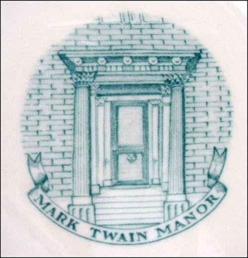 Mark Twain Manor-small plate detail