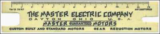 Master Electric Company-ruler