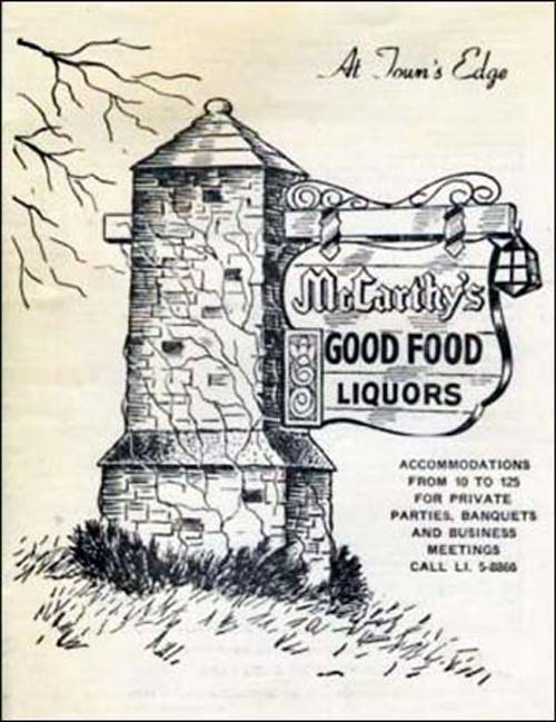 McCarthy's Cafe-menu