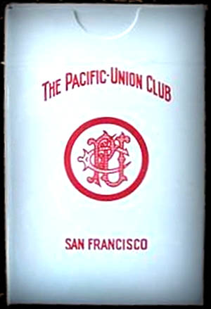 Pacific Union Club -playing cards