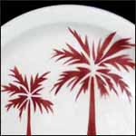 Palm Trees Red Airbrushed