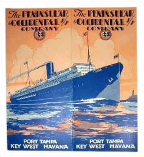 Peninsular & Occidental Steamship -ad