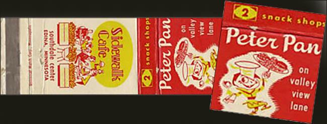 Peter Pan Snack Shops -matchbook