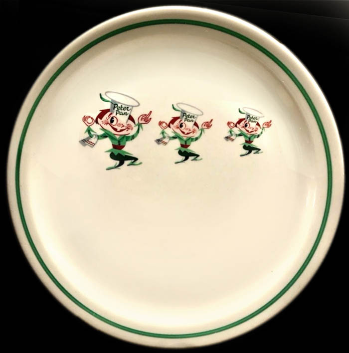 Peter Pan Snack Shops -plate