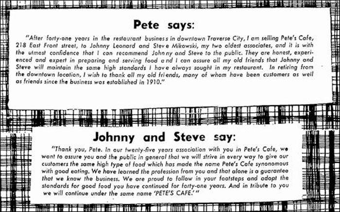 Pete's Cafe -ad 2