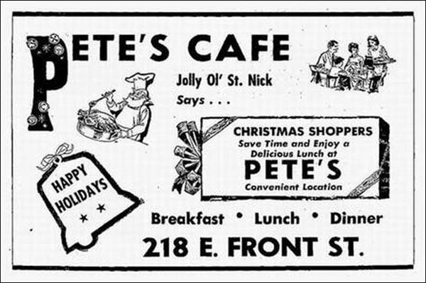 Pete's Cafe -ad 4