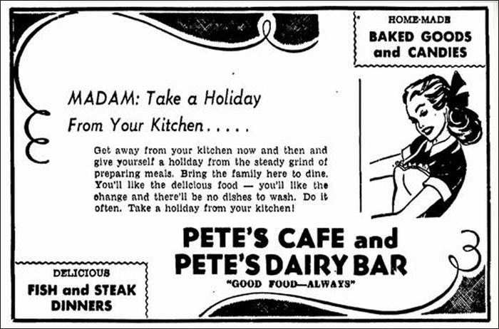 Pete's Cafe -ad