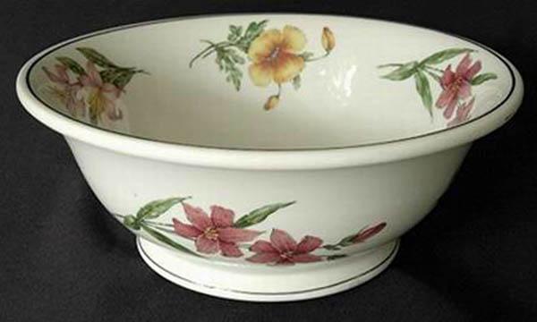 Prairie Mountain Wildflowers -footed bowl