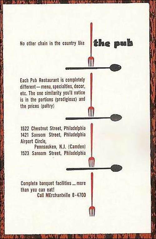 Pub -menu 2