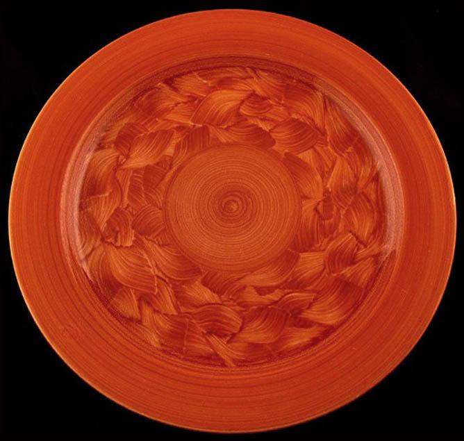 Pueblo Ware -red plate