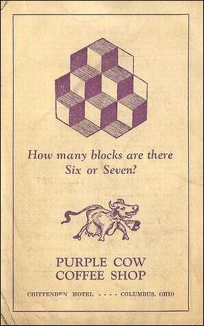 Purple Cow Coffee Shop 2 -menu cover