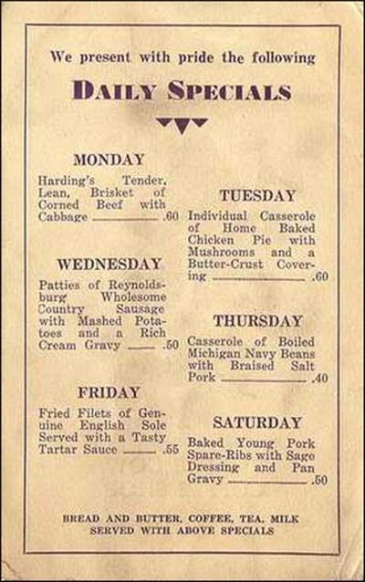 Purple Cow Coffee Shop 2 -menu page