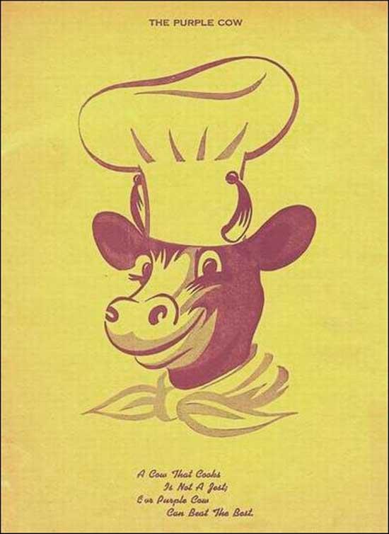 Purple Cow Coffee Shop -ad
