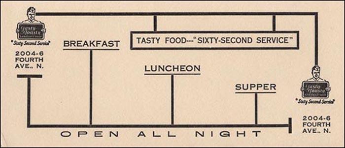 Tasty Toasty Sandwich Shop -ad