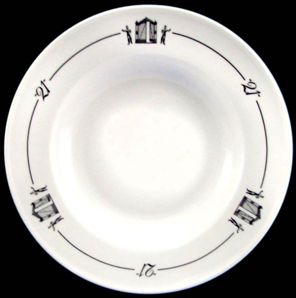 Twenty-One - 21 Club - soup-plate