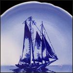Sailboat Blue Airbrushed
