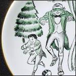 Shenango Christmas Carol Advertising plates