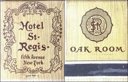St. Regis Hotel -matchbook