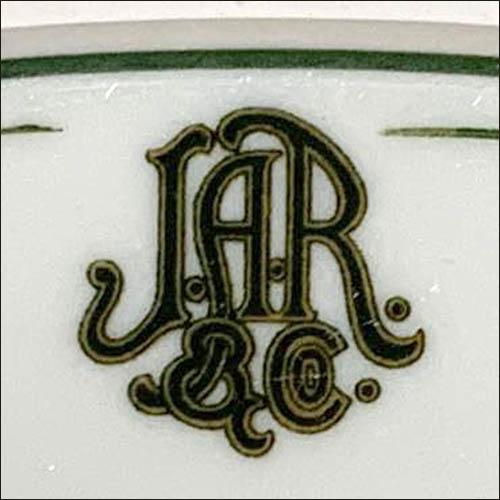 John A Roberts & Co-platter-detail